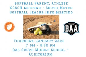 Softball PAC Meeting
